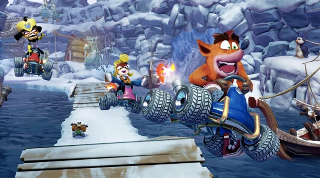 ¡Así lucirá el remake de Crash Racing!